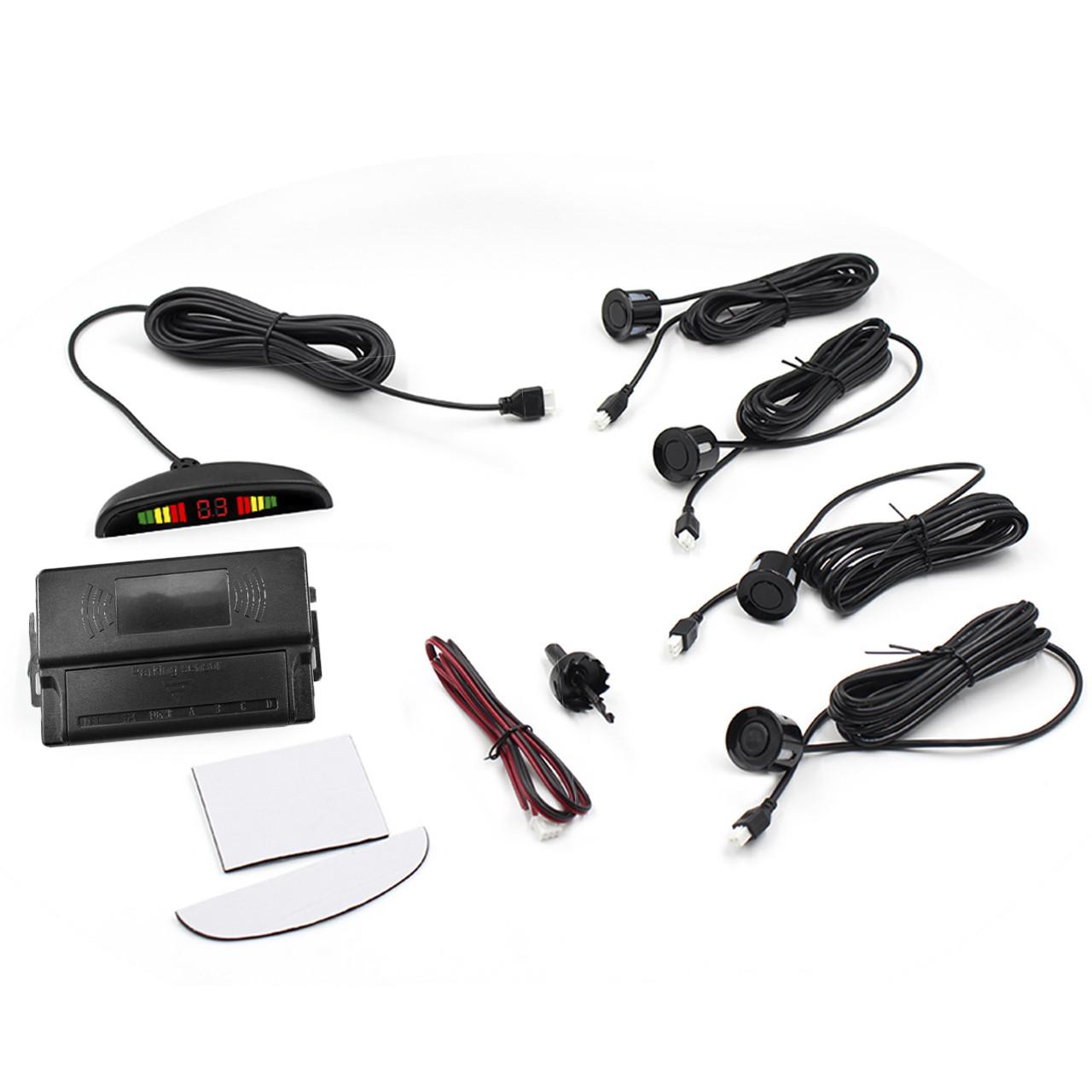 ➀Датчик паркування ParkCity з LED дисплеєм N887 Black detectors 4 датчика індикація паркторник для автомобіля