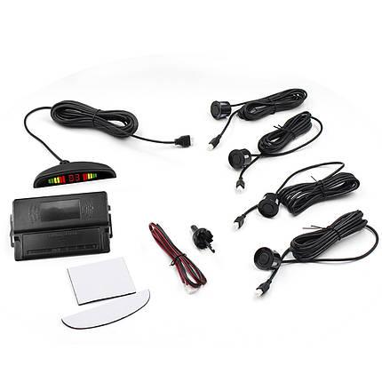 ➀Датчик паркування ParkCity з LED дисплеєм N887 Black detectors 4 датчика індикація паркторник для автомобіля, фото 2