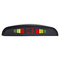 Датчик парковки ParkCity с LED дисплеем N887 Black detectors 4 датчика индикация паркторник для автомобиля, фото 2