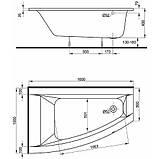 Ванна акрилова KOLO CLARISSA 160х100см, ліва, фото 5