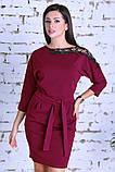 Нарядное женское платье,ткань креп-дайвинг+кружево,размеры :44,46,48., фото 3