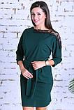 Нарядное женское платье,ткань креп-дайвинг+кружево,размеры :44,46,48., фото 5