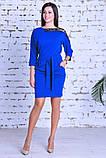 Нарядное женское платье,ткань креп-дайвинг+кружево,размеры :44,46,48., фото 7