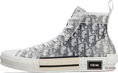Женские кроссовки Dior B23 High Top Logo Oblique 3SH118YJP_H069, Диор Б23