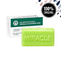 Кислотное очищающее мыло для проблемной кожи SOME BY MI AHA, BHA, PHA 30 Days Miracle Cleansing Bar