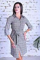 Нарядное женское платье ,ткань клетка-коттон Турция ,размеры:44,46,48,50., фото 1