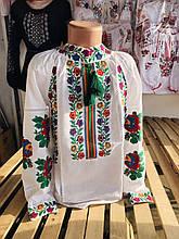 Вышитая детская блуза на домотканке