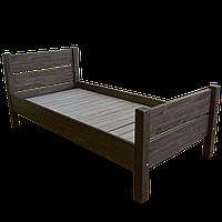 """Ліжко """"РЕЛІНГ - 2"""", бук, світлокоричневий, (світлий горіх)"""