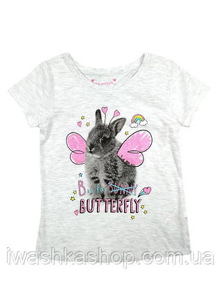 Хлопковая футболка с кроликом для девочки 3 - 4 лет, р. 104, Primark