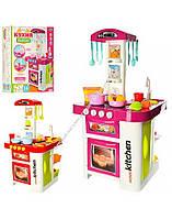 Набор Кухня свет, звук, течет вода, посуда, продукты, 40 передметов, в коробке  889-59/60