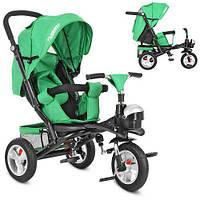 Трехколесный велосипед коляска M 3647A-N4, зеленый