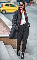 Элегантное демисезонное пальто прямого кроя Marsel (42–50р) в расцветках, фото 1