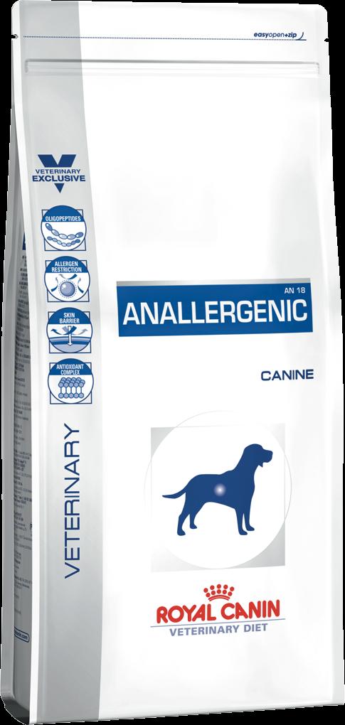 Лечебный корм для собак антиаллергенный Royal Canin ANALLERGENIC CANINE 3 кг