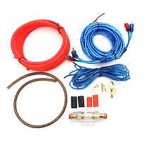 ★Комплект проводов для сабвуфера Lesko MDK MD-668 для подключения усилителя 8GA, фото 2