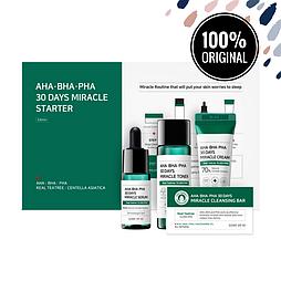 Набор из 4 миниатюр кислотных средств для проблемной кожи SOME BY MI AHA, BHA, PHA 30 Days Miracle Starter Kit