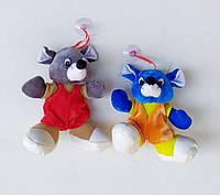 Мягкая игрушка Мышка липучка 15см