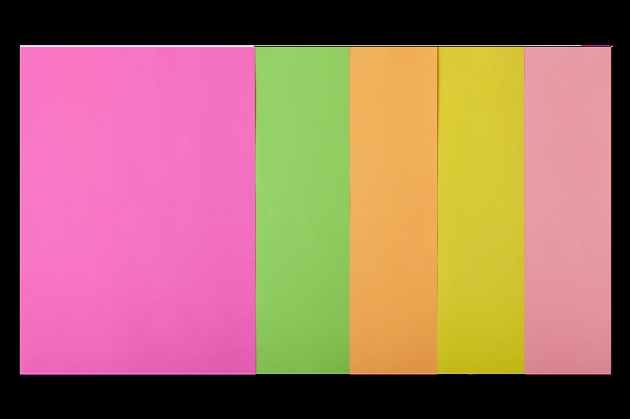 Набор цветной бумаги BUROMAX BM2721550-99 А4, 80г/м2, NEON, 5 цв., 50 листов