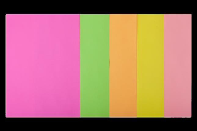 Набор цветной бумаги BUROMAX BM2721550-99 А4, 80г/м2, NEON, 5 цв., 50 листов, фото 2