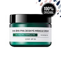 Кислотный крем для проблемной кожи SOME BY MI AHA, BHA, PHA 30 Days Miracle Cream, 60 мл
