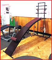 Тренажёр массажёр лежак для восстановления позвоночника с прогибом на подставке №2