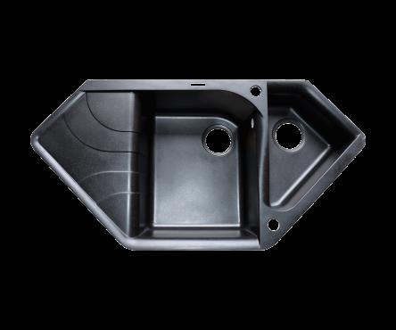 Кухонная мойка (гранит) (разные цвета, сифон в комплекте) BORGIO TRZ-1000×500
