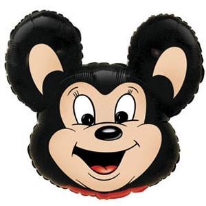 Фольгированный шар Мышонок 29см х 37см Черный