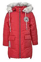 Удлиненная зимняя куртка на девочку 9-12 лет, размеры 134-152