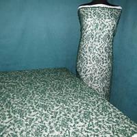 Гіпюр розшитий перлами, пайеткой, бисером_темно-зелений