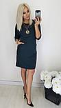 Женское нарядное платье,ткань  креп дайвинг+макраме,размеры:48,50,52,54,56., фото 6