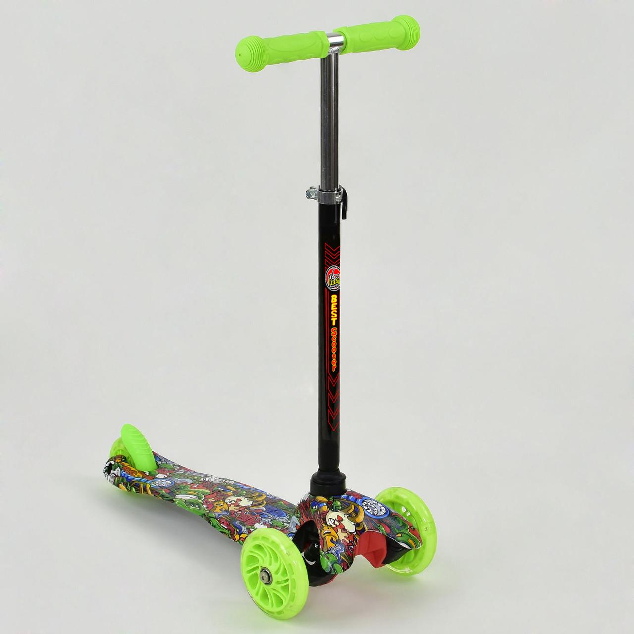 Самокат А 24690 /779-1201 MINI Best Scooter Светящиеся колеса PU Гарантия качества Быстрая доставка
