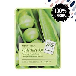 Питательная тканевая маска с фито-плацентарным экстрактом TONY MOLY Pureness 100 Mask Sheet Placenta