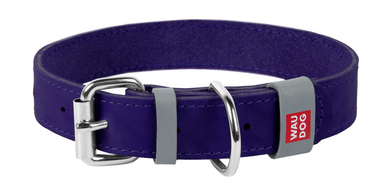 Нашийник шкіра 27-36 см 15 мм Waudog Classic Collar для собак