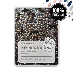 Подтягивающая тканевая маска для лица с экстрактом черной икры TONY MOLY Pureness 100 Mask Sheet Caviar