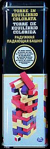 Настольная игра Дженга с цветными брусочками Spin Master (в жестяной коробке)