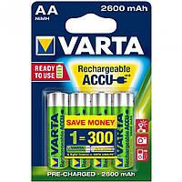 4шт аккумулятор VARTA 2600mAh AA Ready 2 Use ACCU, фото 1