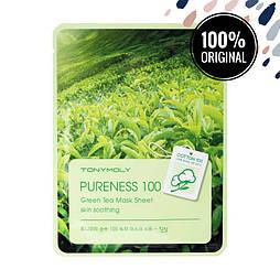 Успокаивающая тканевая маска для лица с экстрактом зеленого чая TONY MOLY Pureness 100 Mask Sheet Green Tea
