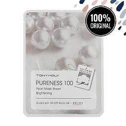 Подсвечивающая тканевая маска для лица с экстрактом жемчуга TONY MOLY Pureness 100 Mask Sheet Pearl