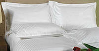 Сатин жаккардовый рисунок страйп-сатин, плотность 135 г/м, цвет белый, пр-во Турция