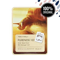 Восстанавливающая тканевая маска для лица с улиточным муцином TONY MOLY Pureness 100 Mask Sheet Snail