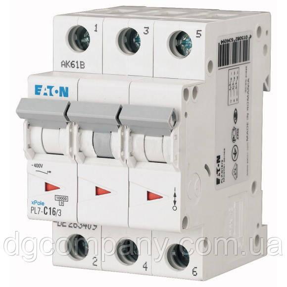 Автомат Eaton-Motller PL4-C 6/3 тип С, 4,5кА