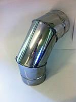 Колено 90° из нержавейки в нержавейке 0,6 мм+0,6 мм Ø220/160 (сэндвич), фото 1