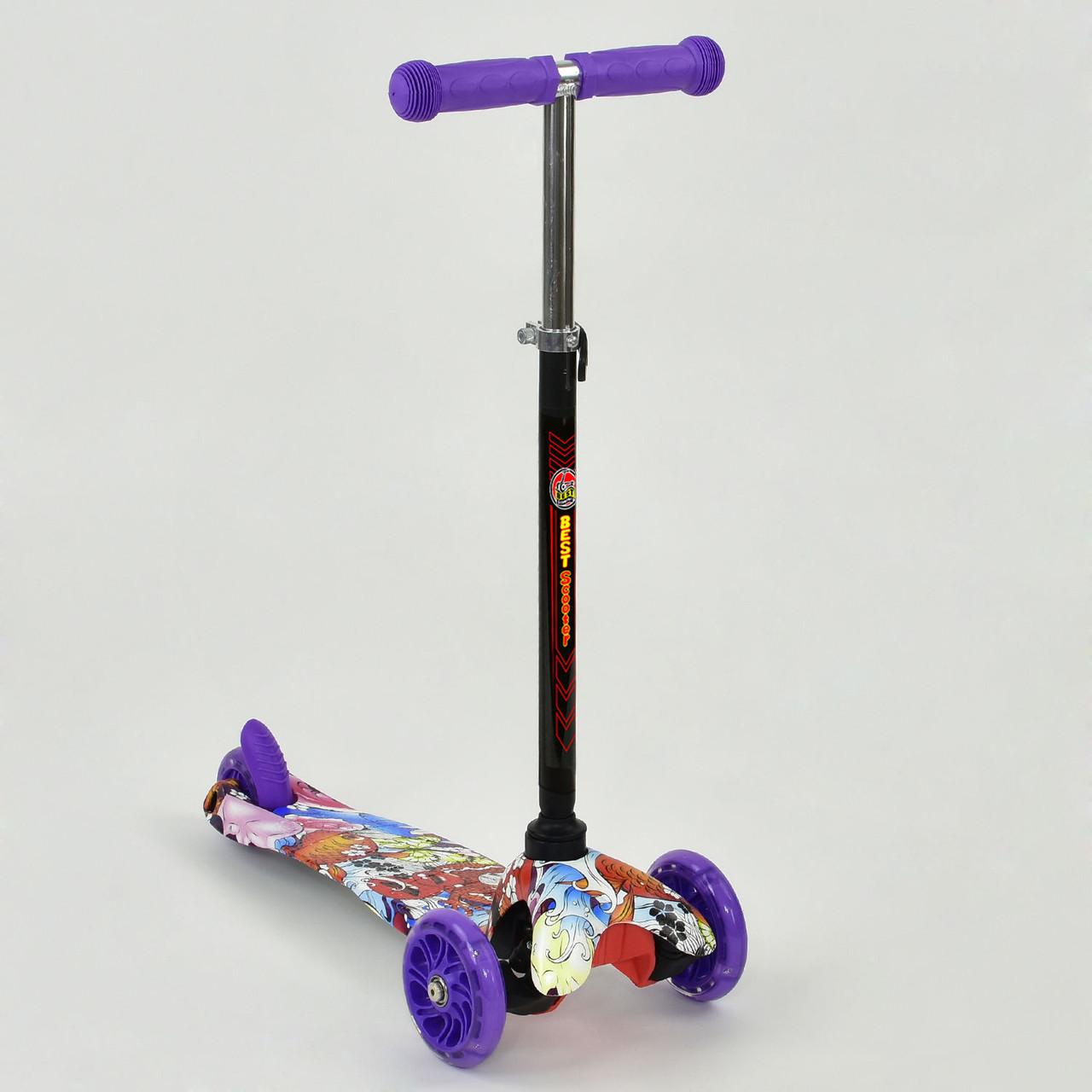 Самокат А 24696 /779-1298 MINI Best Scooter Светящиеся колеса PU Гарантия качества Быстрая доставка