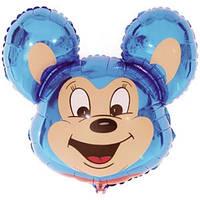 Фольгированный шар Мышонок 29см х 37 см Голубой