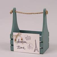 Кашпо деревянное оливковое Dream time