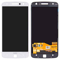 Дисплей (экран) для телефона Motorola Moto Z XT1650, XT1650-01, XT1650-02, XT1650-03, XT1650-05 + Touchscreen White
