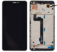 Дисплей (экран) для телефона Xiaomi Mi Max 2 + Touchscreen with frame Original Black