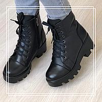 Женские зимние ботинки кожа (36-41), фото 1