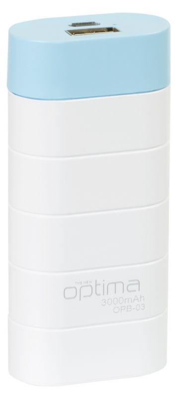Внешний аккумулятор Optima Promo Series OP-3 3000mAh White/Blue