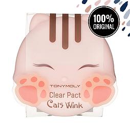 Матирующая очищающая пудра TONY MOLY Cat's Wink Clear Pact 02 Clear Beige