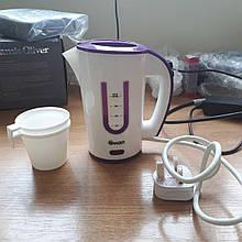 Портативний електрочайник Swan SK27010N пластик, 1000 Вт, білий / фіолетовий